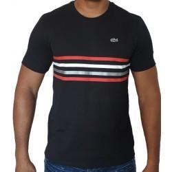 T-shirt LACOSTE Rayé Noir