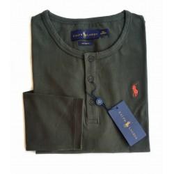 T-shirt Henley Kaki RALPH...