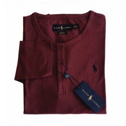 T-shirt Henley Bordeaux...